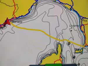 Navigazione dalla Toscana alla Costa Azzurra